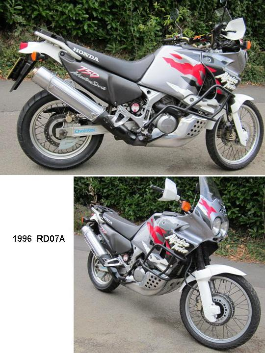 for sale honda 1996 xrv750 africa twin rd07a low mileage. Black Bedroom Furniture Sets. Home Design Ideas