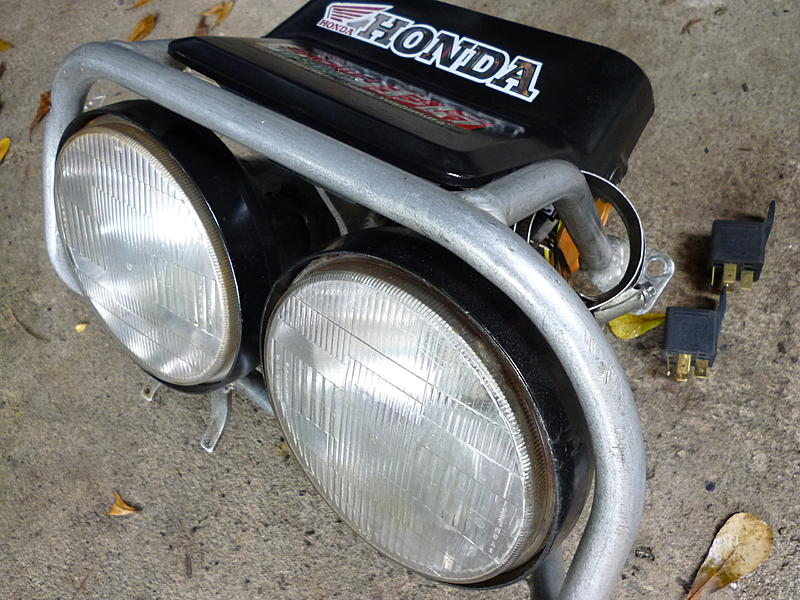 D Complete Original Good Conditions Twin Headlights Set Honda Xr Baja Honda Xr Baja Twin Headlights on Honda Xr 250