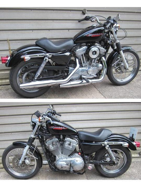 D Harley Sportster Xl Retro Style Rubber Carburettor Evo Wire Wheels Lrside on Sportster Idle Adjustment