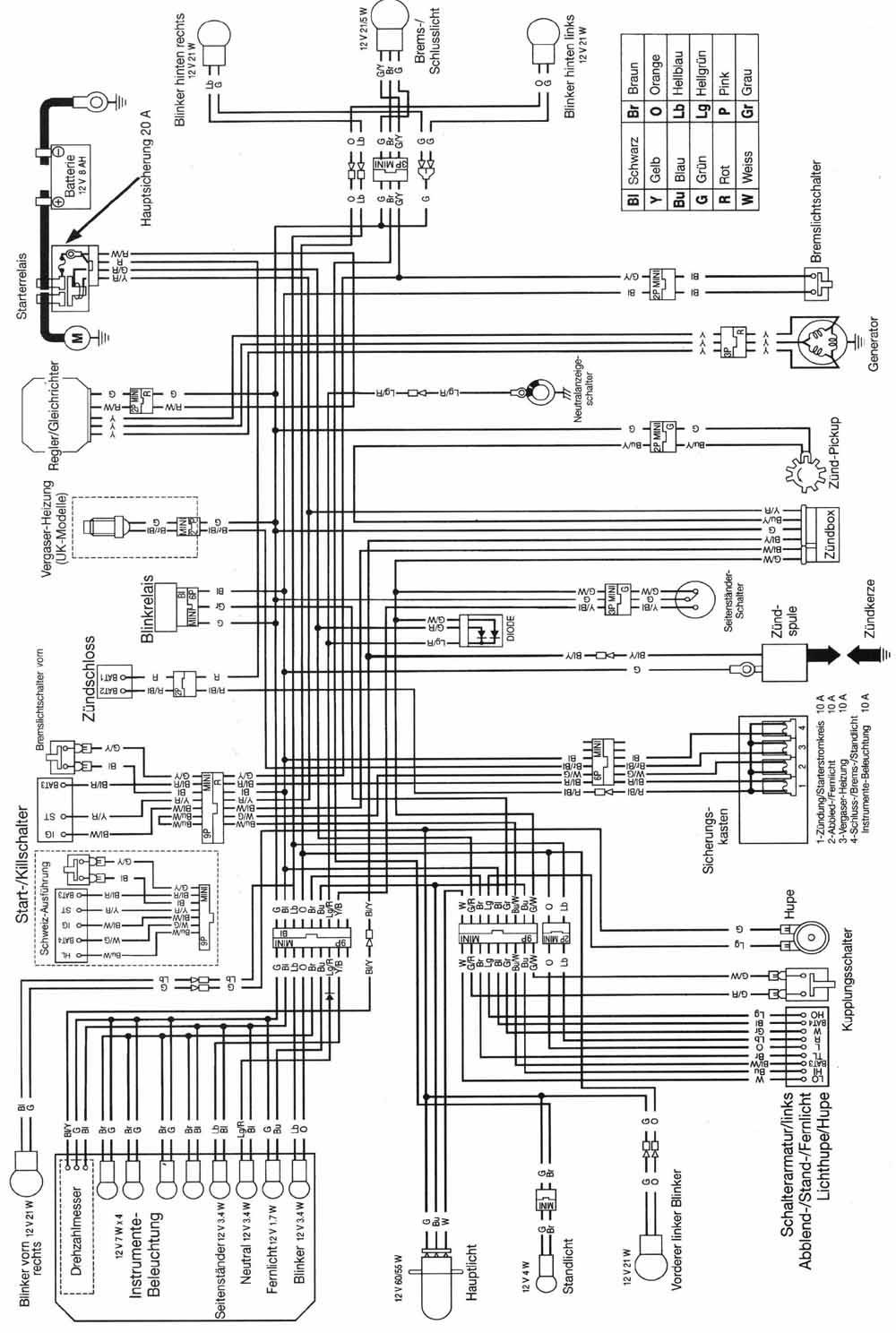 Nx650 Wiring Diagram Diagrams Honda Nx 650 Electrical Smart Car Dominator Simple